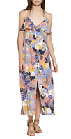 NEW Sanctuary Women's Isabella Floral Ruffled Maxi Dress Orange Size XL