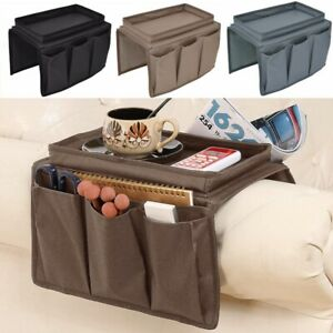 New Arm Chair Armrest Organiser Couch Sofa TV Remote Control Food Holder Tray