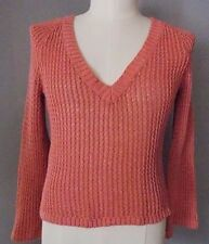 J JILL Coral LOOSE KNIT V Neck Sweater Size Small Petite SP