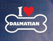 « I Love/ Coeur Dalmatiens » Fantaisie Os Voiture/Sticker Camion Idéal pour