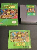 Adventure Island 2 NES Nintendo, Case Box And Manual W Game!