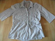 BOTTEGA by Elisa Cavaletti schöne Bluse 3/4 Arm grau Gr. M  NEUw. 416