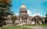 Chrome ID Postcard C513 Idaho State Capitol Street View Boise Northwest Curio