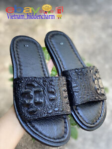 Men's Sandals- Genuine Crocodile/Alligator Skin-100% Handmade