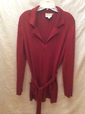 Emanuel Ungaro  Brick Color Cardigan Sweater Size M fine wool blend