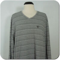 ALFANI Men's Gray V-Neck Top, Long Sleeves size XL