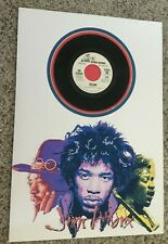 Jimi Hendrix Matted Picture with Promotional 45 Freedom