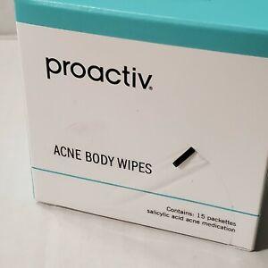 Proactiv Acne Body Wipes 15 Packets Dark Spot Fading Pads 2% Salicylic 07/21