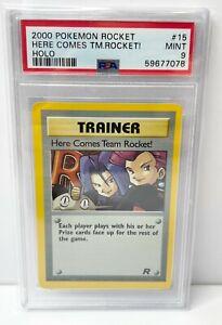 Pokemon Card 2000 Rocket Set Trainer Here Comes Team Rocket 15/82 PSA 9 MINT