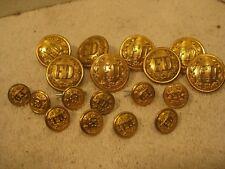 18 Brass fire dept. uniform buttons