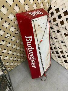 Rare Vintage Hanging Pool Table Bar Budweiser Hanging Light for Restoration