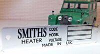 Redondo Smiths Calentador Metal Placa Modelo Voltaje Torno Land Rover Serie 2 2a