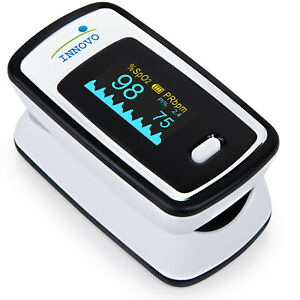 Innovo Deluxe Fingertip Pulse Oximeter Blood Oxygen Monitor Heart Rate Meter