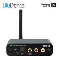 BluDento 5.0 aptX HD True HiFi Bluetooth Music Audio Stereo Receiver Long Range