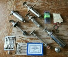 Vtg Cutter Laboratories Hypodermic Syringe Lot, Livestock, Veterinary Medicine