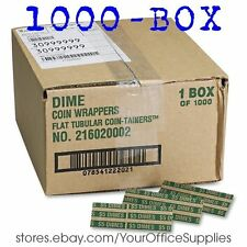 Pop-open Flat Kraft COIN WRAPPERS Sorter DIMES roll paper value currency money