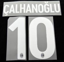 AC Milan calhanoglu 10 Football Shirt Name/Number Set Kit Home Serie a 2017/18