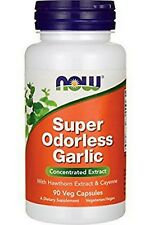 NOW Foods SUPER ODORLESS GARLIC  90 VCaps - FRESH PHARMACY STOCK!