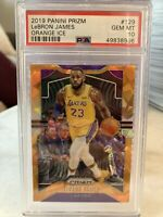 2019-20 Prizm Lebron James ORANGE ICE PSA 10 GEM Mint #129 Lakers INVEST