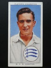 No.4 D.C.S. COMPTON - MIDDLESEX & ENGLAND Cricketers 1938 by John Player 1938