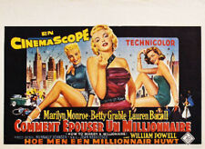 WIE ANGELT MAN SICH EINEN MILLIONÄR Marilyn Monroe Belgien Filmplakat GEROLLT