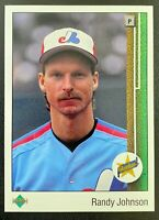 1989 Upper Deck RANDY JOHNSON Rookie #25 Montreal Expos Hall of Fame RC