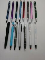15 Piece Misprint Lot All Metal Pen Pens Mostly Paragon 5 With Stylus Blue Ink