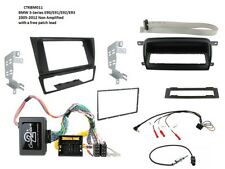 BMW 3 Series E91 2005-2012 Negro Kit de montaje de doble DIN interfaz de volante