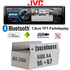 JVC Autoradio für AUDI A4 B6 B7 TFT-Display MP3 USB Android iPhone Einbauzubehör
