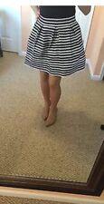 NWT Express Mini Flare Skirt. Black and White Striped. XS. A-Line. CUTE