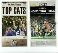 LSU TIGERS 2020 NATIONAL CHAMPIONSHIP NEWSPAPER BURROW ORGERON - NEW ORLEANS