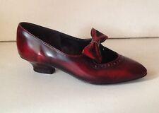 Vintage años 60 Estilo Mary Jane Zapatos años 20 Aleta/Estilo Eduardiano UK 4