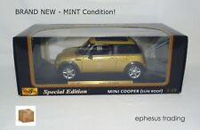 Maisto SE BMW MINI Cooper Coupe Sun Roof Hatchback 1.6l Gold w/Black 1/18 NEW!