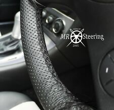 FOR RENAULT MASTER 1997+ PERFORATED LEATHER STEERING WHEEL COVER DOUBLE STITCH