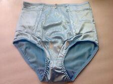 Women Panties,Briefs,Control Panties Ann Diane Size 2XL SeaBlue Satin