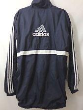 Adidas Windbreaker Jacket Vtg 90s Blue White 3 Stripe Mens Size 2XL XXL