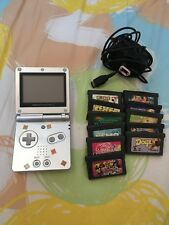 Nintendo Game Boy Advance SP Launch Edition Platinum Silver Handheld System