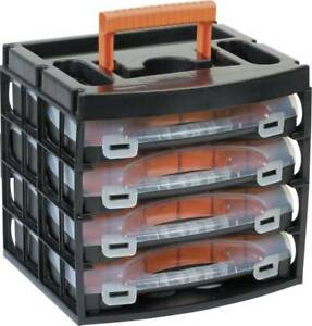 ALUTEC 56100 Sortimentskoffer 16 Fächer 322x279x297 variable Unterteilung Lager
