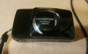 OLYMPUS Infinity Stylus ZOOM 140 35mm Film Camera - Tested, Works - Lens Cover*