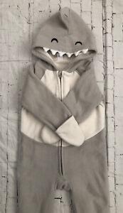 New Baby Boys Shark Sleeper 18-24 Months Old Navy Winter Costume One Piece