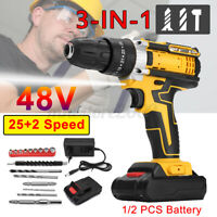3 in 1 Power Tool Rechargeable Cordless Electric Screwdriver Drill Set Kit