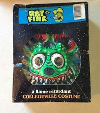 VINTAGE COLLEGEVILLE RAT FINK HALLOWEEN COSTUME IN ORIGINAL BOX  ED ROTH