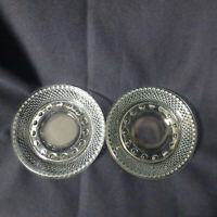 Set Of Two Vintage Clear Boopie Glass Style Ashtrays
