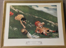 JACK AND JILL Framed Print Jesse Willcox Smith Gold Tone Frame