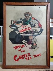 Original watercolor painting- advertising by listed William Heath Robinson 1917