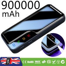 900000mAh Portable Power Bank External Backup Battery Dual USB Charger for Phone