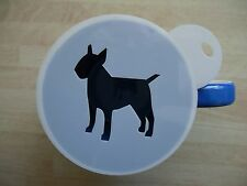 Laser cut english bull terrier design coffee and craft stencil