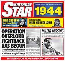 73rd Birthday Gifts - 1944 Chart Hits Britpop CD and 1944 Birthday Card
