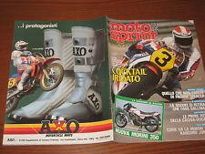 MOTOSPRINT 1983/37 TEST MORINI 125 VESPA PK 50S PUBBLICITA' AXO