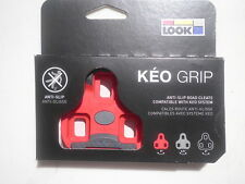 LOOK Keo Grip 9° Float Red Cleats *New*